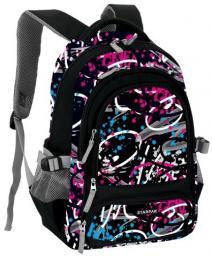 Starpak Plecak szkolny Trans czarno-niebiesko-różowy (396195)