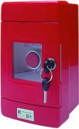 Spamel Przycisk wystający 1R czerwony w obudowie OBC pierścień niklowany z młoteczkiem (SP22-WC-01/OBC/BM)