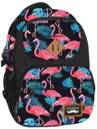 Starpak Plecak flamings czarno-różowo-niebieski (402461)