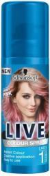 Schwarzkopf Live Spray koloryzujący do włosów Candy Pink 120 ml