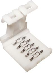 Premium Lux Złączka led  t+t do taśmy led RGBW 12mm 12V/24V DC max 3A (LUX01914)