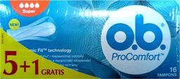 O.B O.B.ProComfort Super komfortowe tampony 6op. x 16szt (5+1 gratis)