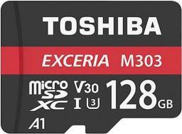 Karta MicroSD Toshiba M303 128GB UHS-I U3 + adapter (THN-M303R1280E2)