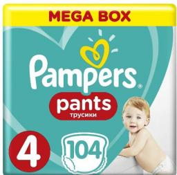 Pampers Mega box Pants 4 Maxi 104 szt.