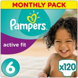 Pampers Active Fit 6 EXTRA LARGE 120 szt.