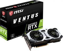 Karta graficzna MSI GeForce RTX 2080 Ti VENTUS 11G (352 Bit), HDMI, 3xDP, USB-C, BOX (RTX 2080 Ti VENTUS 11G)