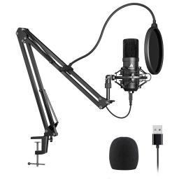 Mikrofon Maono ZESTAW MAONO USB MIKROFONOWY STATYW POP FILTR KOSZ (MKIT-USB)