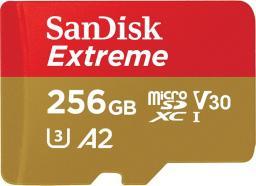 Karta SanDisk Extreme MicroSDXC 256 GB Class 10 UHS-I/U3 A2 V30 (SDSQXA1-256G-GN6MA)