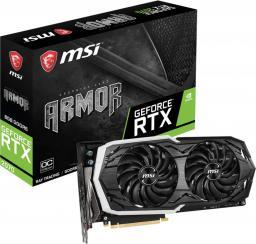 Karta graficzna MSI GeForce RTX 2070 ARMOR 8G OC 8GB GDDR6 (256 Bit), HDMI, 3xDP, USB-C, BOX (RTX 2070 ARMOR 8G OC)