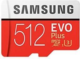 Karta MicroSD Samsung EVO+ microSDXC 512GB CL10 + adapter (MB-MC512GA/EU)