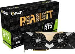 Karta graficzna Palit GeForce RTX 2080Ti Dual 11GB GDDR6 (NE6208T020LC-150A)