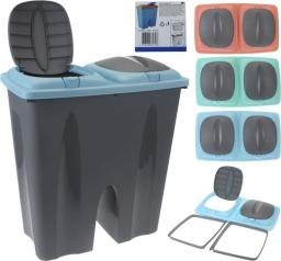 Kosz na śmieci do segregacji na przycisk 50L 3 kolory
