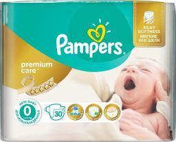 Pampers Pieluchy Premium Care jednorazowe, rozmiar 0, Newborn, 2,5 kg, 30 szt.