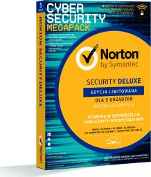 NORTON Security Deluxe 5 urządzeń 1 rok z WiFi Privacy (21386356)