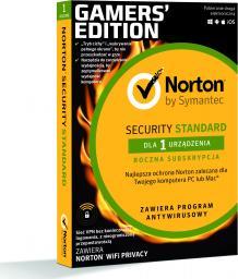 NORTON Security Standard 3.0 1 urządzenie 1 rok z WiFi Privacy (21386330) Gaming Edition!