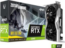 Karta graficzna Zotac GeForce RTX 2060 AMP 6G GDDR6 (192 Bit), HDMI, 3xDP, BOX (ZT-T20600D-10M)