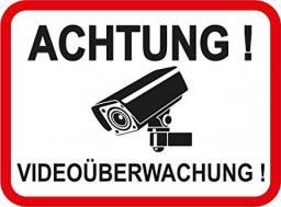 Lupus Electronics Naklejka Achtung Videoüberwachung