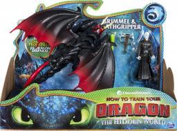 Spin Master Dragon Smok z wikingiem czerwono-czarny (20103713)