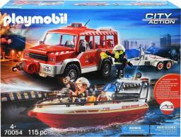 Playmobil Samochód strażacki z łodzią strażacką (70054)