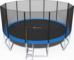 Funfit Trampolina ogrodowa dla dzieci z siatką zewnętrzną i drabinką 490cm