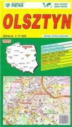 Plan miasta Olsztyn 1:17500