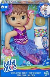 Hasbro Baby Alive Lala Migocząca Syrenka brunetka (E3691)