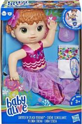 Hasbro Baby Alive Lala Migocząca Syrenka ruda (E4410)