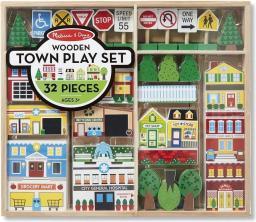 Melissa & Doug Drewniane miasteczko do układania 14796
