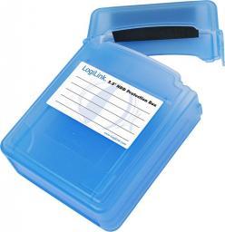"""LogiLink Pudełko ochronne do 2 x HDD 2.5"""" niebieskie (UA0132)"""