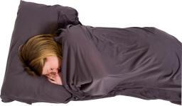 Lifeventure Cotton Stretch Sleeping Bag Liner Rectangular Grey 210x80cm (LM65550)