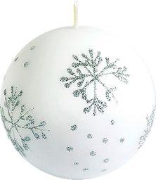 Art-Pol Świeca biała - Płatek Śniegu Kula (97977)