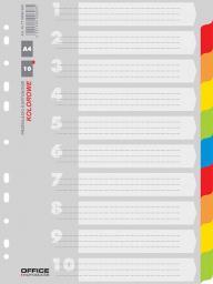 Office Products Przekładki kartonowe a4, 227x297, mix, 10 kart (21071021-99)
