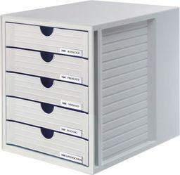 HAN ZESTAW 5 SZUFLADEK SYSTEM-BOX HAN A4 POLISTYREN SZARY - HN145011-13