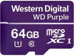 Karta Western Digital Purple MicroSDXC 64 GB Class 10 UHS-I  (WDD064G1P0A)