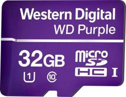 Karta Western Digital Purple MicroSDHC 32 GB Class 10 UHS-I  (WDD032G1P0A)