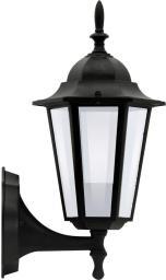 Polux Lampa ścienna Liguria 1X60W E27 IP43 czarna (ALU1047I)