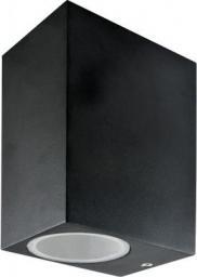 Polux Oprawa lampa ścienna zewnętrzna Boston 2x35W GU10 IP44 czarna (SG37SQWB-2)