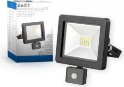 Naświetlacz Zext  LED 10W,  6400K,  230V,  IP65,  z Czuj.Ruch  (C06-MHS-10W-64-PIR)