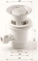 Deante Korek automatyczny z cięgnem chrom (XDW00ACZ1)