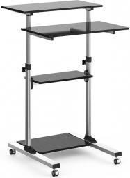 Techly Uniwersalny stolik prezentacyjny do notebooka z 4 półkami regulowany (102833)