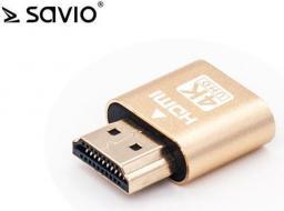 Savio SAVIO AK-37 Emulator monitora do złącza HDMI 4K/UHD do koparki (AK-37)