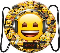 St. Majewski Plecak na sznurkach okrągły Emoji żółty (270596)
