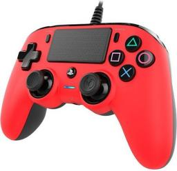 Gamepad Nacon Compact controller czerwony (PS4OFCPADRED)