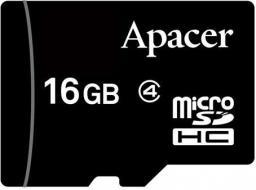 Karta Apacer MicroSDHC 16 GB Class 4  (AP16GMCSH4-RA)