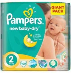 Pampers Pieluchy Act. Baby Giant Pack 2 mini 3-6kg