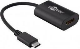 Adapter USB Goobay USB C - HDMI Czarny (38532)