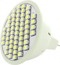 Whitenergy Żarówka LED GU5.3, 60xSMD 3528, 3W, 12V, ciepła biała (03921)