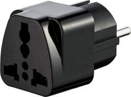 Akyga Adapter podróżny US/AU/UK do EU czarny (AK-AD-48)