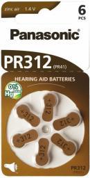 Panasonic Bateria do aparatów słuchowych PR41 6szt.