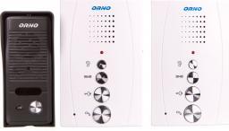 Orno ZZestaw domofonowy jednorodzinny z interkomem, bezsłuchawkowy, biały, ELUVIO INTERCOM OR-DOM-RE-920/W - OR-DOM-RE-920/W